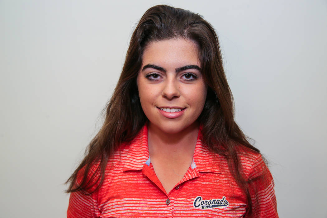 Coronado's Gabby DeNunzio is a member of the Review-Journal's all-state girls golf team.