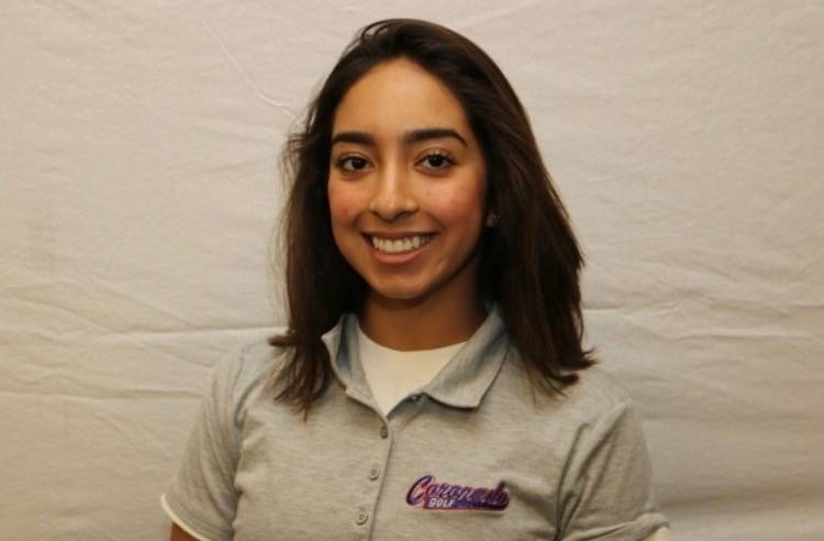 Coronado's Victoria Estrada is a member of the Review-Journal's all-state girls golf team.