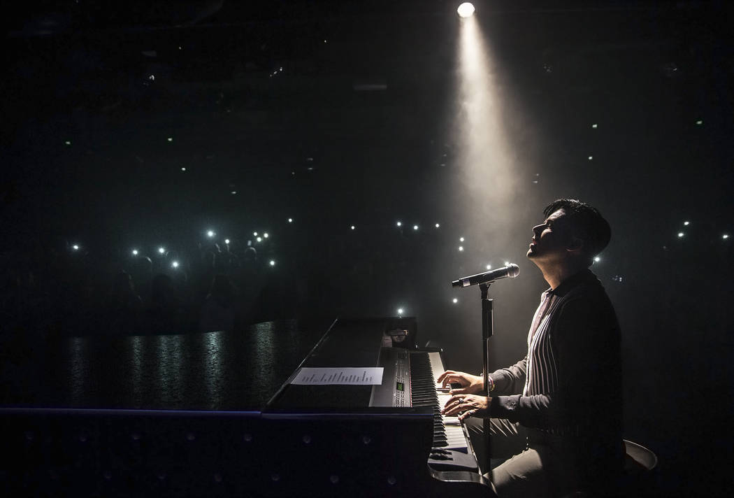 Singer and piano showman Frankie Moreno wows the crowd at The Showroom on Saturday, May 20, 2017, at the Golden Nugget hotel-casino, in Las Vegas. Benjamin Hager Las Vegas Review-Journal @benjamin ...