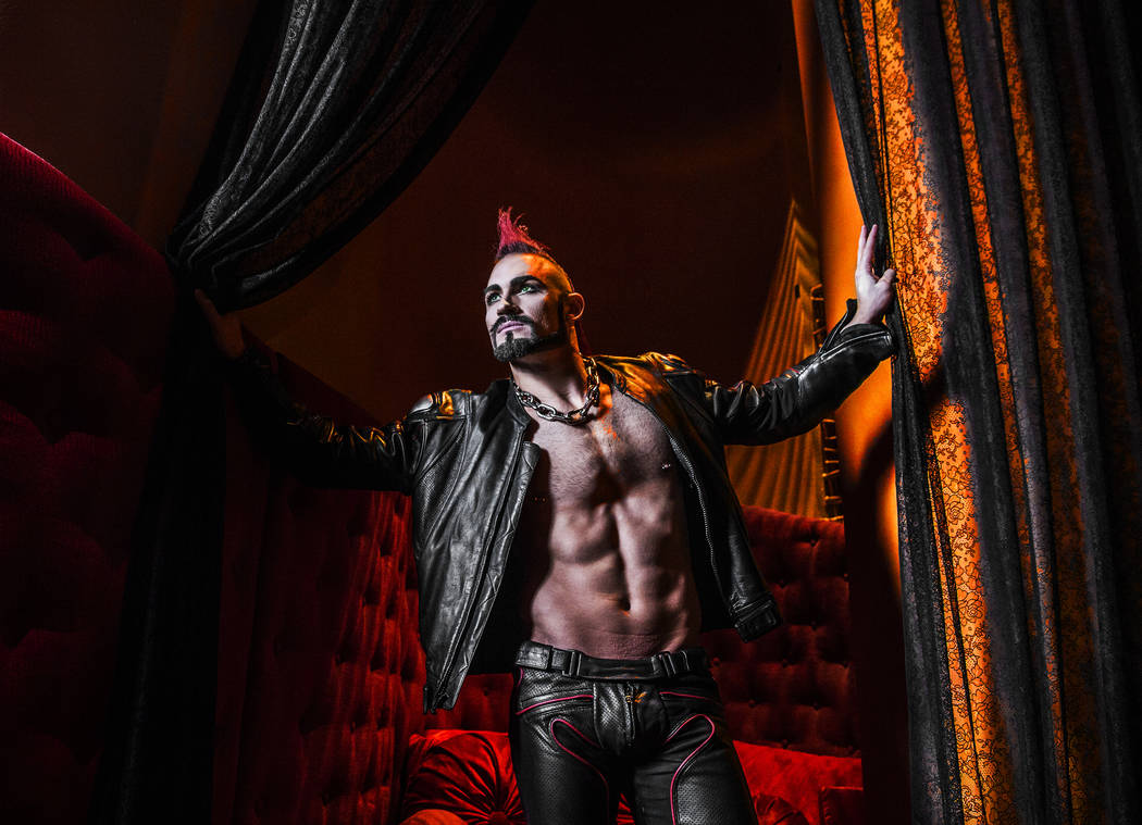 Brandon Pereyda, who plays the role of the biker in Cirque du Soleil's Zumanity, is one of a handful of Las Vegas natives with feature roles on The Strip. Photo taken on July 28, 2017, at New York ...