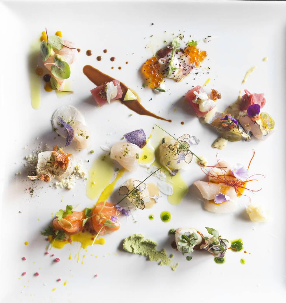 Sushi from chef John Um at Sushisamba on Thursday, July 20, 2017, at the Palazzo hotel-casino, in Las Vegas. Benjamin Hager Las Vegas Review-Journal @benjaminhphoto