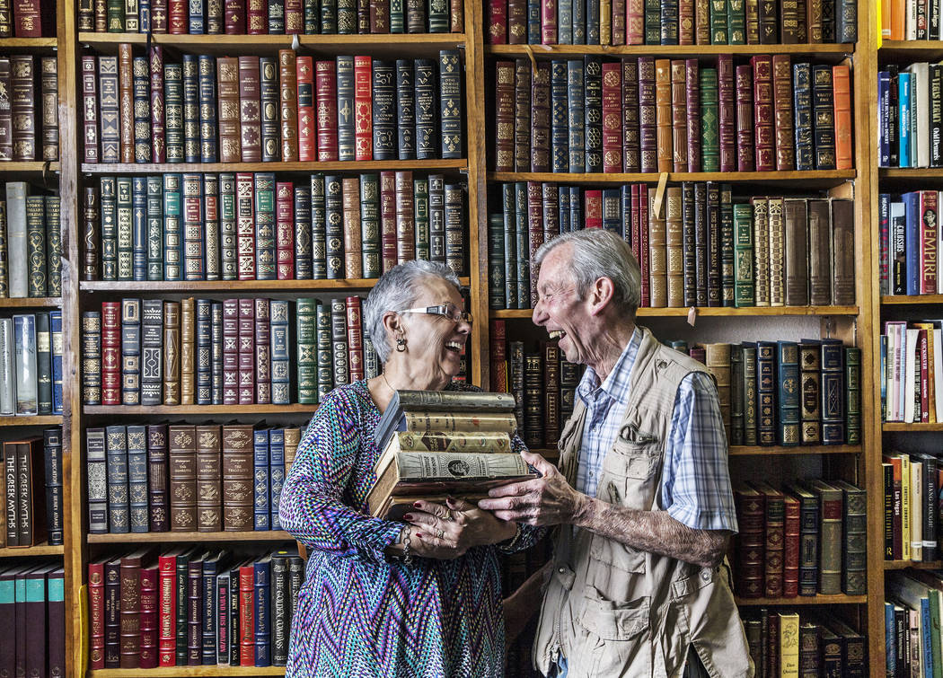 Amber Unicorn Books owners Myrna and Lou Donato have co-owned Las Vegas' oldest bookstore for the past 35 years. Photo taken on Monday, March 20, 2017, at Amber Unicorn Books, in Las Vegas. (Benja ...