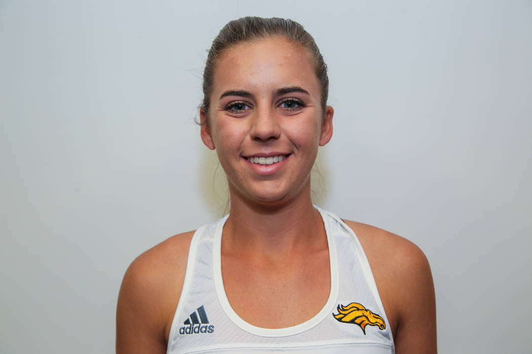 Clark's Audrey Boch-Collins is a member of the Review-Journal's all-state girls tennis team.