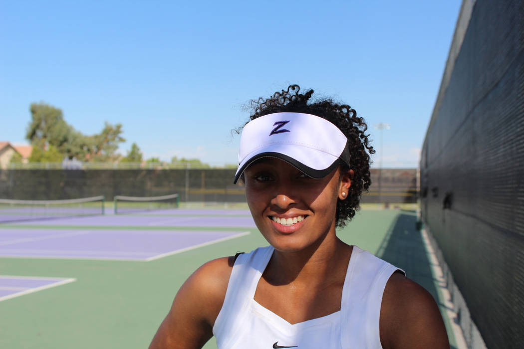 Durango's Averiana Mitchell is a member of the Las Vegas Review-Journal's all-state girls tennis team.