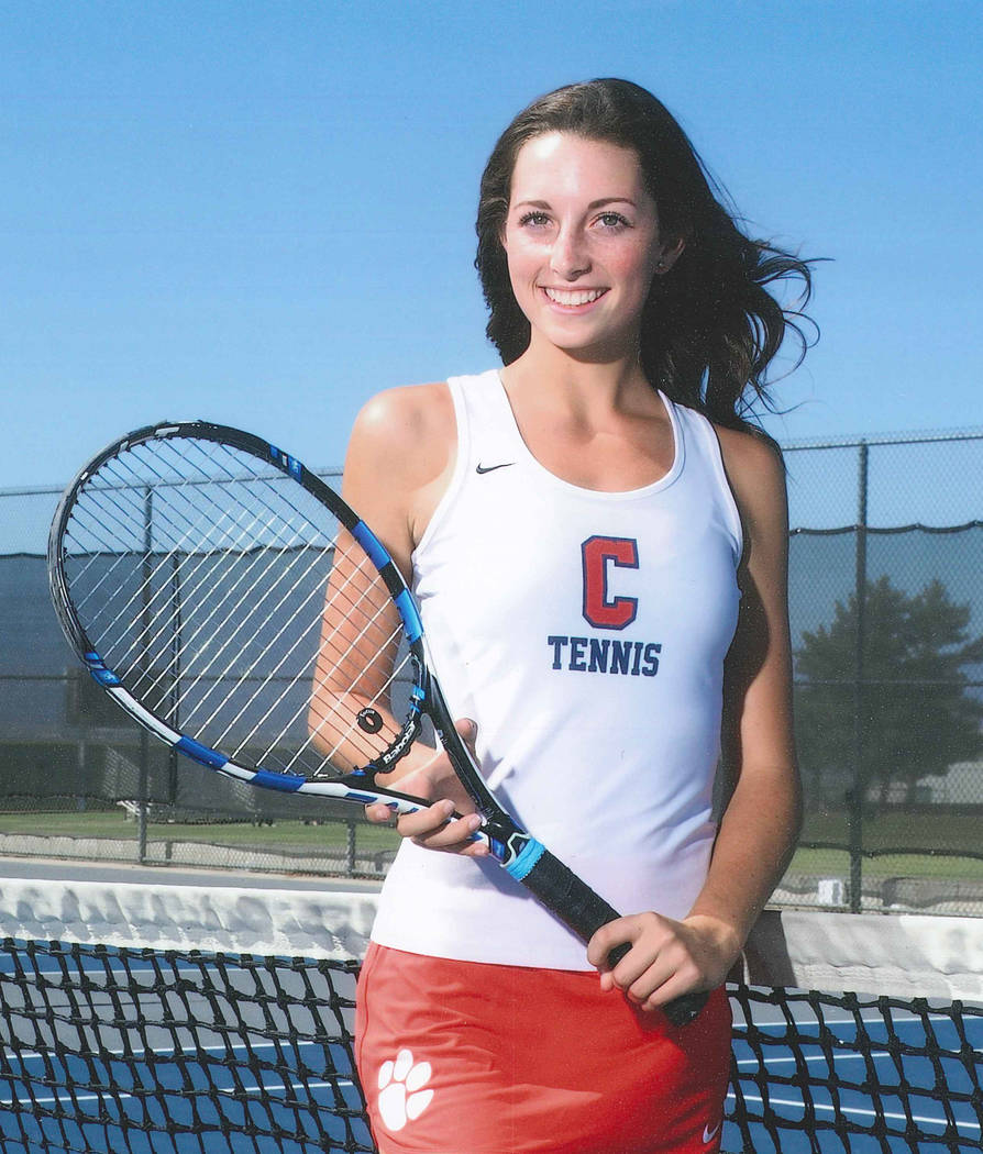 Coronado's Hannah Grossman is a member of the Review-Journal's all-state girls tennis team.