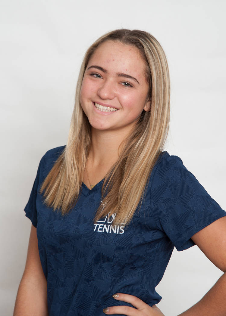 The Meadows' Isabella Monroe is a member of the Review-Journal's all-state girls tennis team.