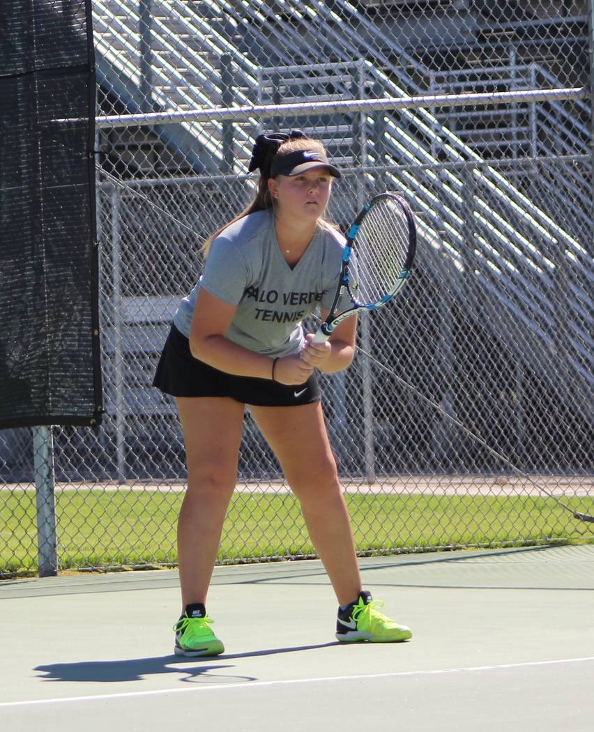 Palo Verde's Isabella Shelton is a member of the Review-Journal's all-state girls tennis team.