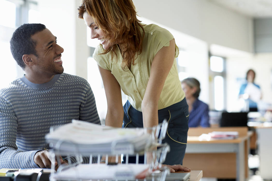 Office relationships that might have flown under the radar — particularly those between boss and subordinate — are getting a new look. (Thinkstock)