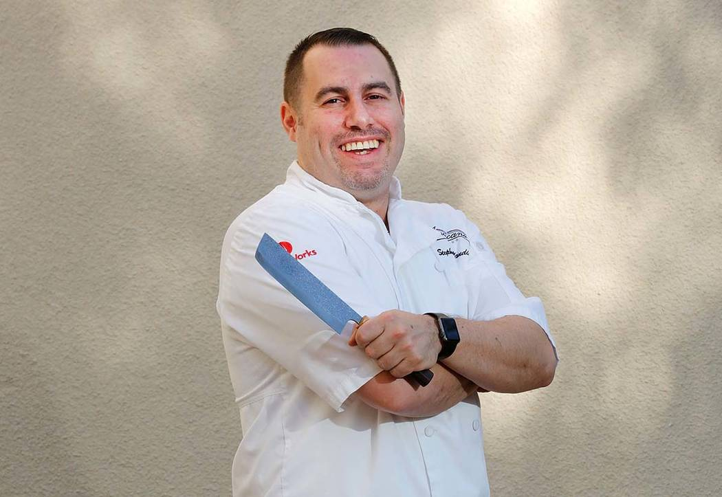 Stephen Blandino, chef/owner of Americana at his restaurant in Las Vegas, Sunday, Dec. 17, 2017. Chitose Suzuki Las Vegas Review-Journal