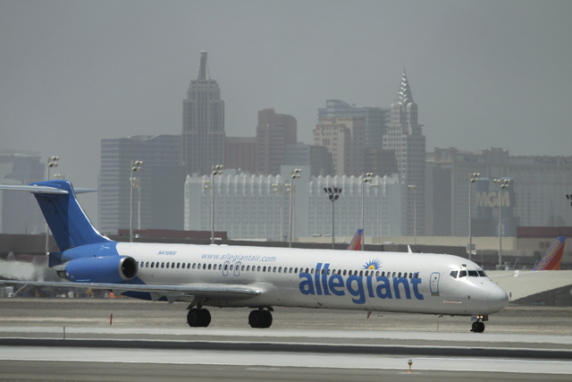 Allegiant Airline plane (John Locher/Las Vegas Review-Journal)