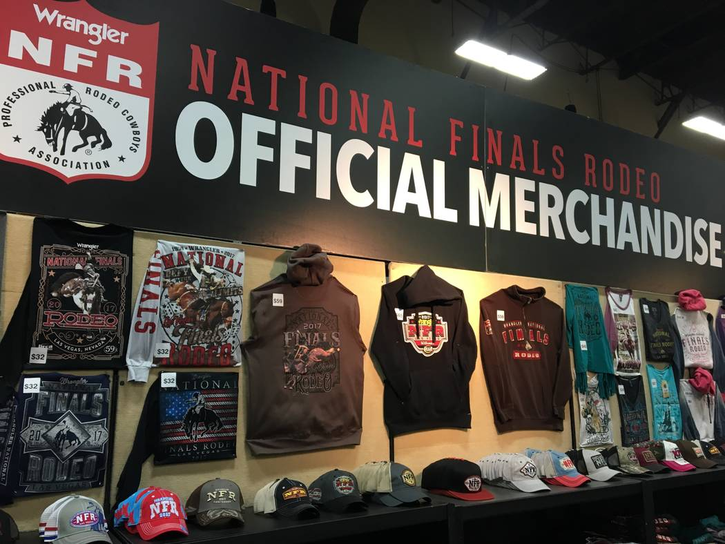 If you can't make it out to the Thomas & Mack Center for nightly action at the Wrangler National Finals Rodeo, Mandalay Bay's Cowboy Marketplace has you covered, with a big booth full of offic ...