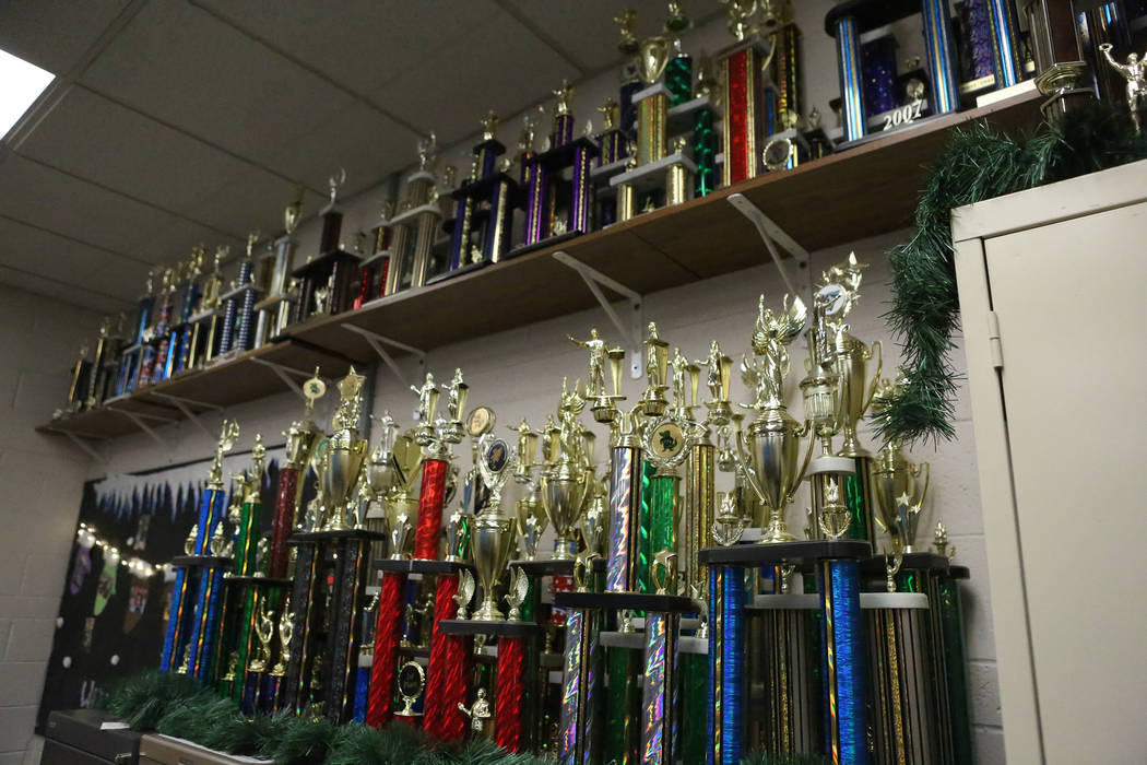 Trophies are amassed on every wall of the class room of Scott Ginger who was selected as the Nevada Educator of the Year because of his unwavering commitment to speech and debate education. Monday ...