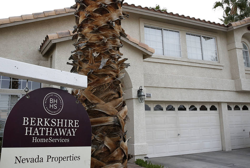 A for sale sign is displayed in front of a home at Fan Palm Court near Windmill Lane Wednesday, Nov. 15, 2017, in Las Vegas. Bizuayehu Tesfaye Las Vegas Review-Journal @bizutesfaye