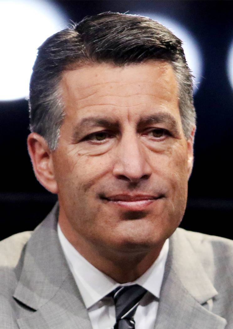 This is a Nov. 13, 2017, file photo of Nevada Gov. Brian Sandoval in Las Vegas. Heidi Fang Las Vegas Review-Journal @HeidiFang