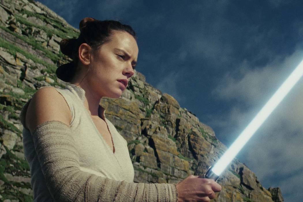 "This image released by Lucasfilm shows Daisy Ridley as Rey in ""Star Wars: The Last Jedi."" ""Star Wars: The Last Jedi"" is off to a death star-sized start at the box o ..."
