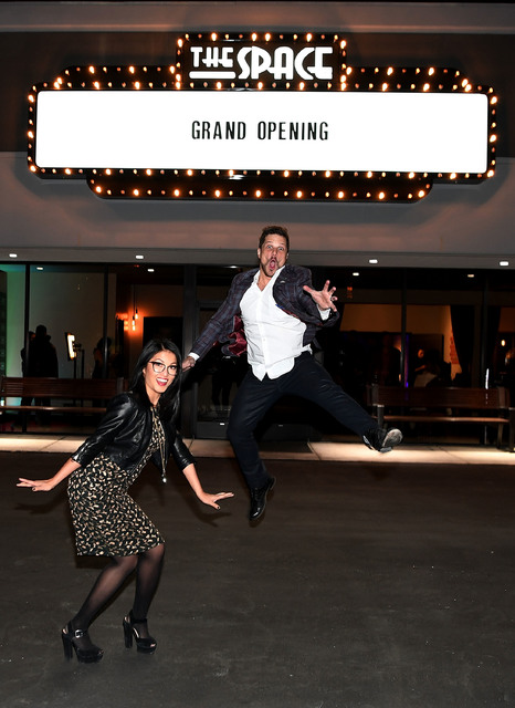 "Cheryl Daro and Mark Shunock celebrate the grand opening of The Space, the new home of ""Mondays Dark,"" on Thursday, Jan. 5, 2017, in Las Vegas. (Denise Truscello/WireImage)"