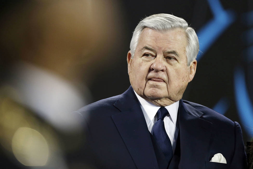 In this Sunday, Jan. 24, 2016 file photo, Carolina Panthers owner Jerry Richardson watches before the NFL football NFC Championship game against the Arizona Cardinals in Charlotte, N.C. The Caroli ...
