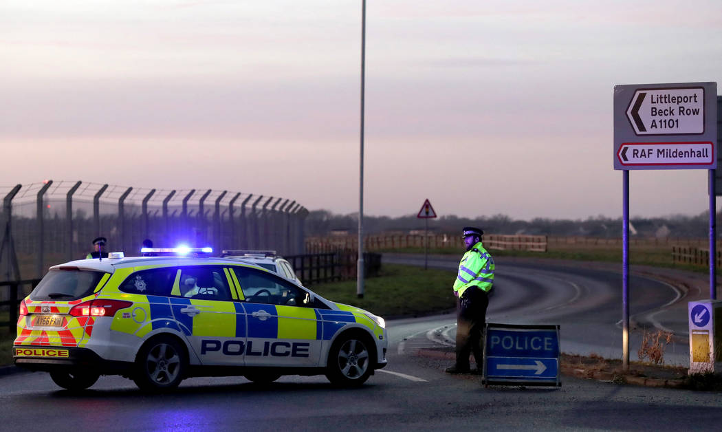 Air Force base in Britain on lockdown after 'serious incident'