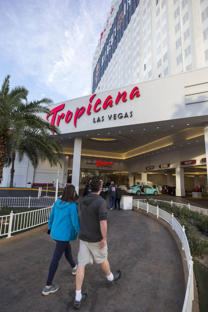 The Tropicana Las Vegas hotel-casino on the Strip, Monday, Dec. 18, 2017. Richard Brian Las Vegas Review-Journal @vegasphotograph