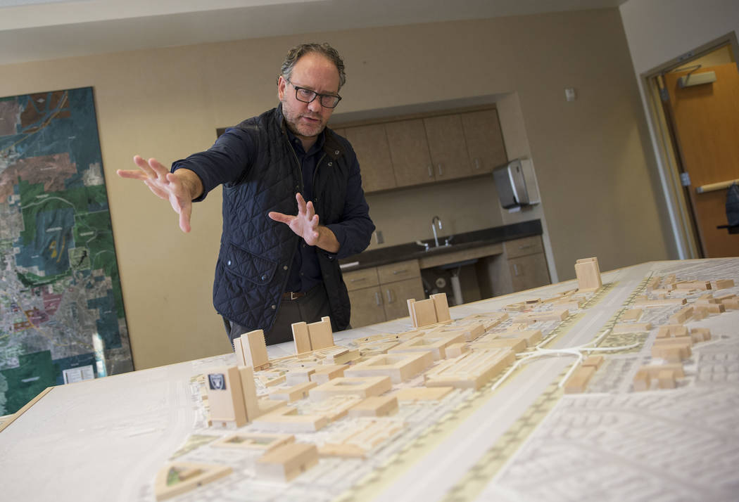 Developer Alan Sauvage has plans to develop a spread of acres near the Henderson Executive Airport. Richard Brian Las Vegas Review-Journal @vegasphotograph