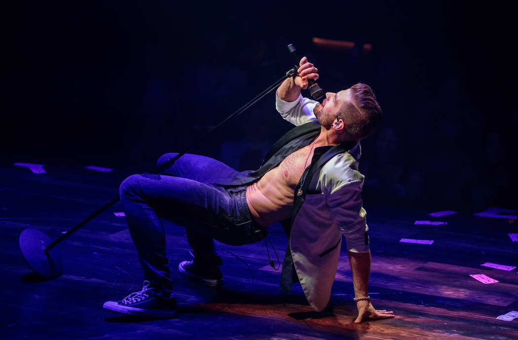 "David Terry performs during the grand opening of ""Magic Mike Live"" at The Hard Rock Hotel on Friday, April 21, 2017, in Las Vegas. (Erik Kabik)"