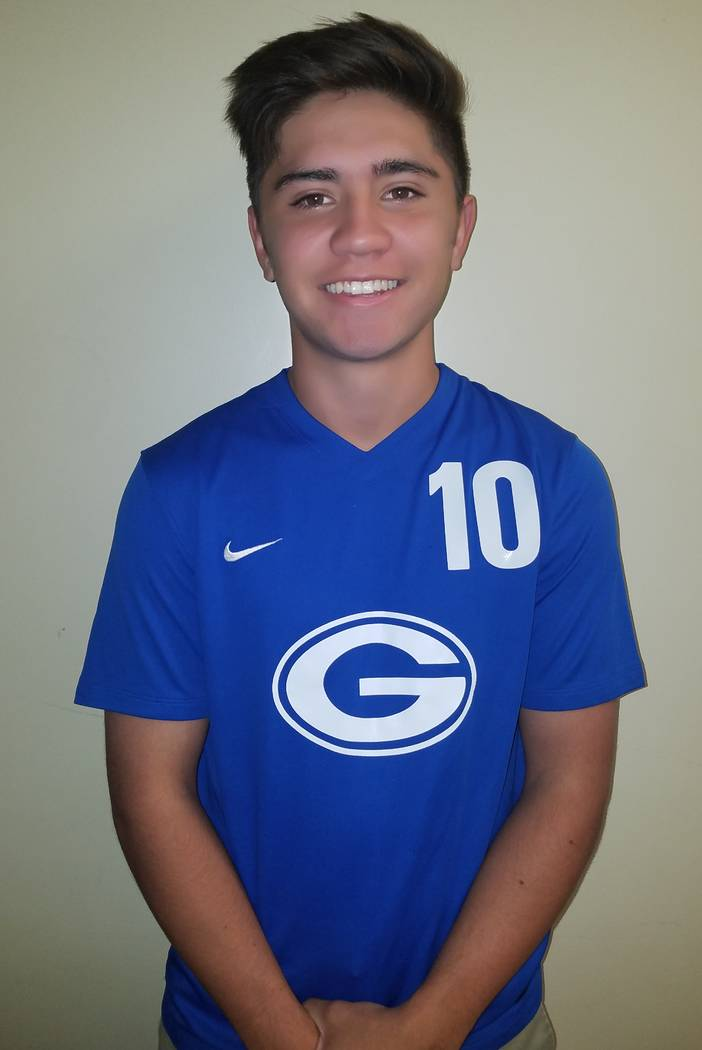 Bishop Gorman's Corrigan Neville is a member of the Las Vegas Review-Journal's all-state boys soccer team.