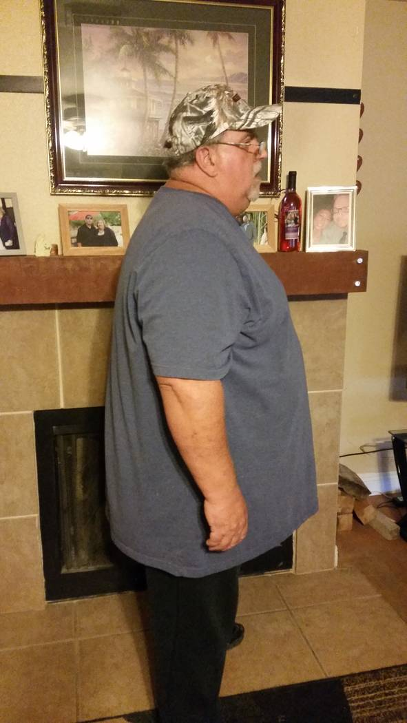 "Bill Trumble's ""before"" picture shows him when he weighed 525 pounds and a health scare sent him in search of a gym to help him lose weight. (Trumble/SPECIAL)"