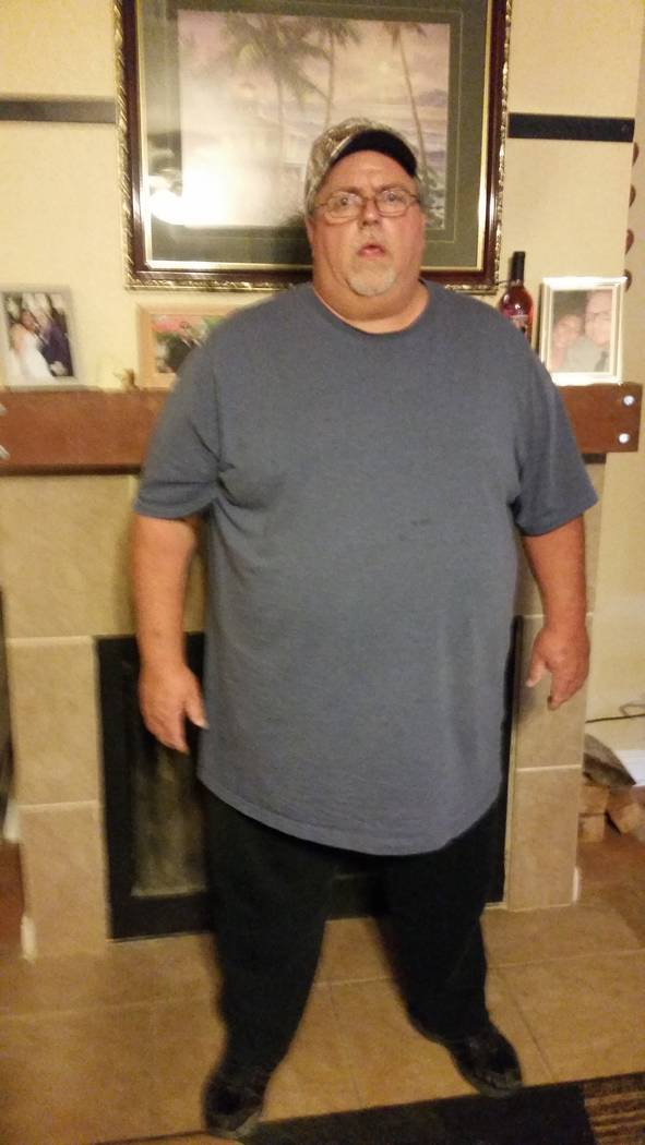 "Bill Trumble's ""before"" picture shows him when he weighed 525 and a health scare sent him in search of a gym to help him lose weight. (Trumble/SPECIAL)"