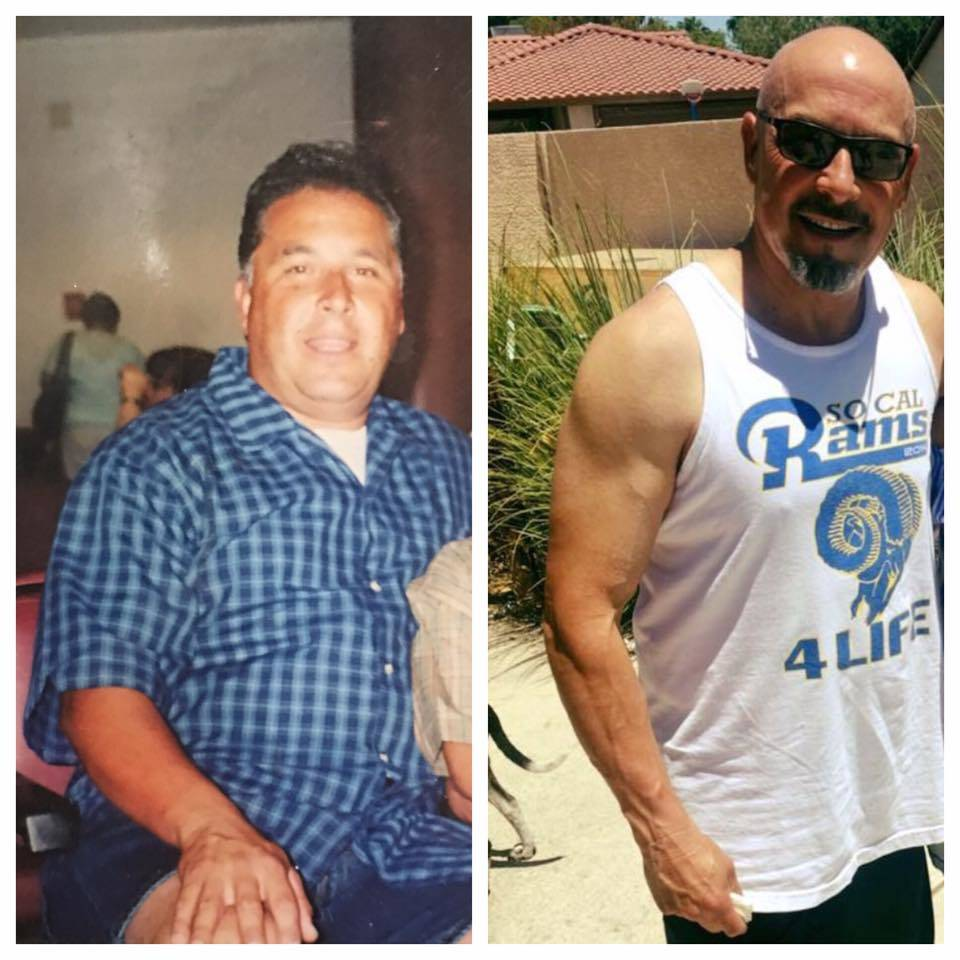 Alfonso Lopez went from 287 pounds to 185 and looks completely different. (Lopez/SPECIAL)