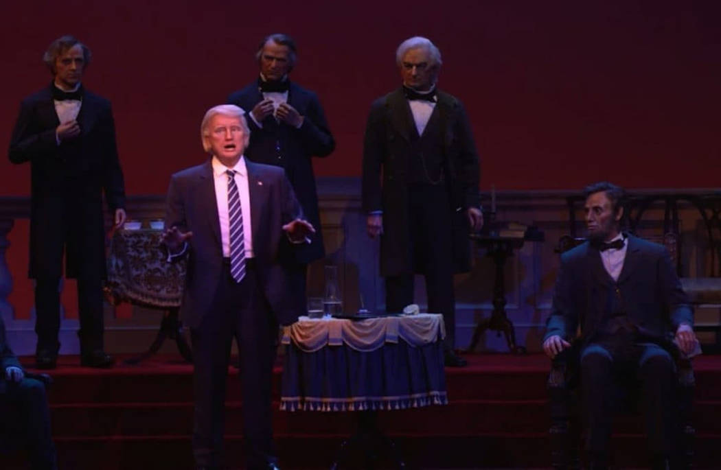 An animatronic version of President Trump at the Hall of Presidents at Walt Disney World in Orlando. MUST CREDIT: Disney