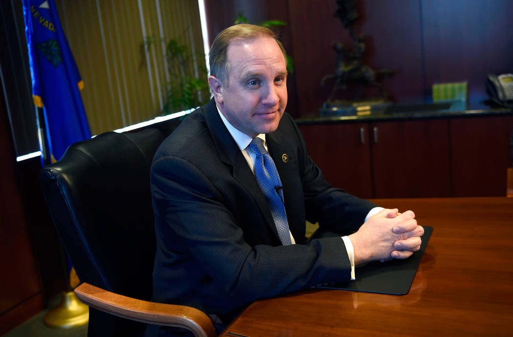 FBI Special Agent in Charge Aaron Rouse speaks during an interview with members of the Las Vegas Review-Journal at Las Vegas FBI headquarters Wednesday, Dec. 20, 2017. David Becker/Las Vegas Revie ...