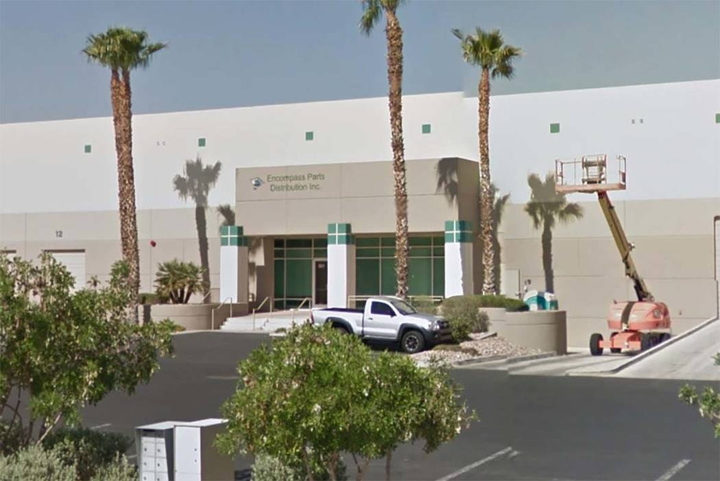 Encompass Supply Chain Solutions is moving back into the Prologis Las Vegas Corporate Center in North Las Vegas. (Google Street View)