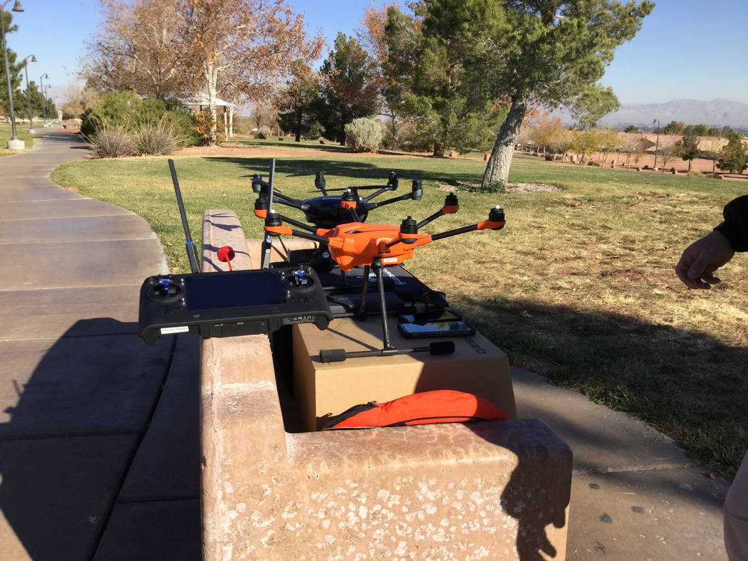 The Metropolitan Police Department purchased five drones from drone manufacturer Yuneec that arrived in late September. Nicole Raz/Las Vegas Review-Journal