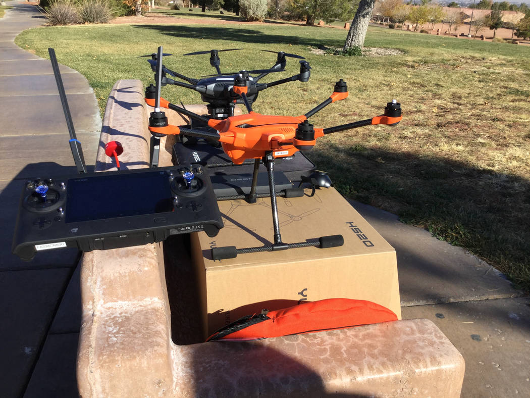 The Metropolitan Police Department purchased drones from drone manufacturer Yuneec that arrived in late September. Nicole Raz/Las Vegas Review-Journal