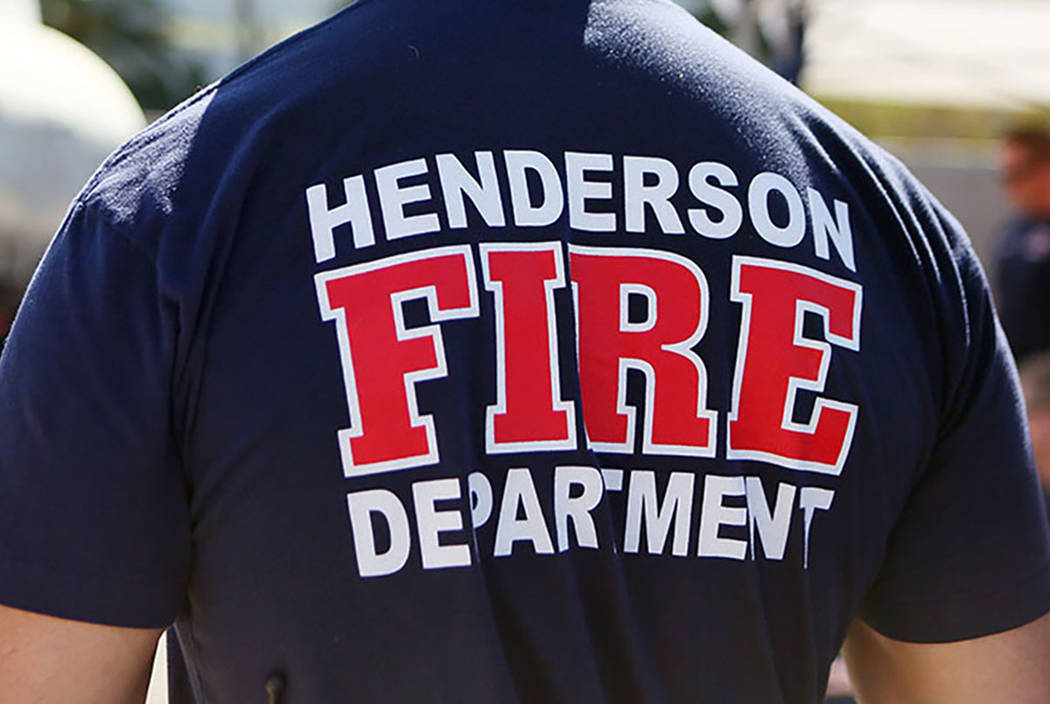 A member of the Henderson Fire Department, July 2, 2014, in Henderson.  (Ronda Churchill/Las Vegas Review-Journal)