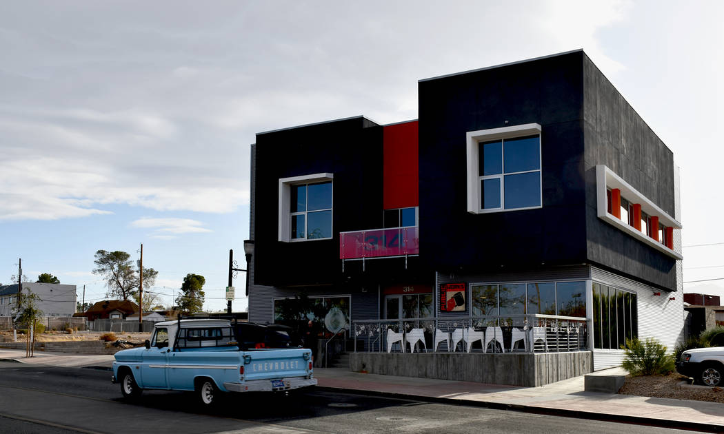Henderson Redevelopment Manager Mark Hobaica said Tate Snyder Kimsey Architects at 314 S. Water Street created a mixed-use type environment in downtown Henderson. (Daria Sokolova/View)