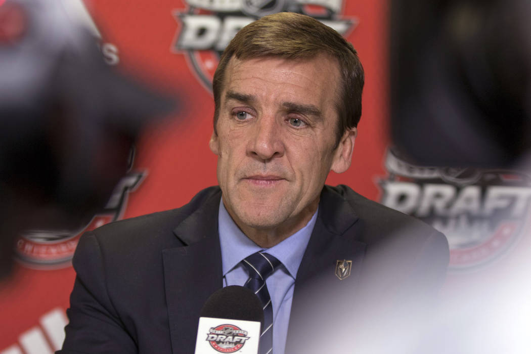 Knights Gm George Mcphee Relishes Time With Capitals Las Vegas