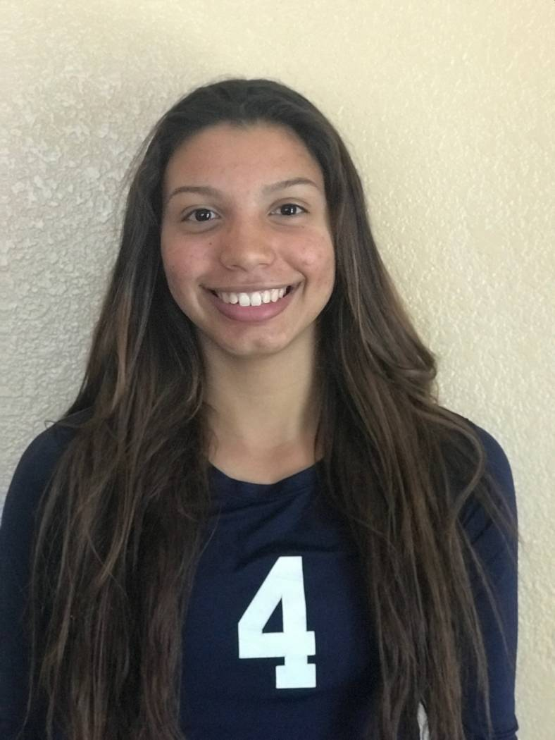 Shadow Ridge's Kizzy Rodriguez is a member of the Las Vegas Review-Journal's all-state girls volleyball team.