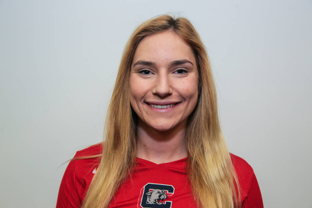 Coronado's Madison Karcich is a member of the Las Vegas Review-Journal's all-state girls volleyball team.