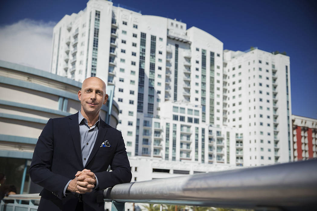 The Ogden  Uri Vaknin, a partner at KRE Capital, stands in front of The Ogden high-rise in downtown Las Vegas.