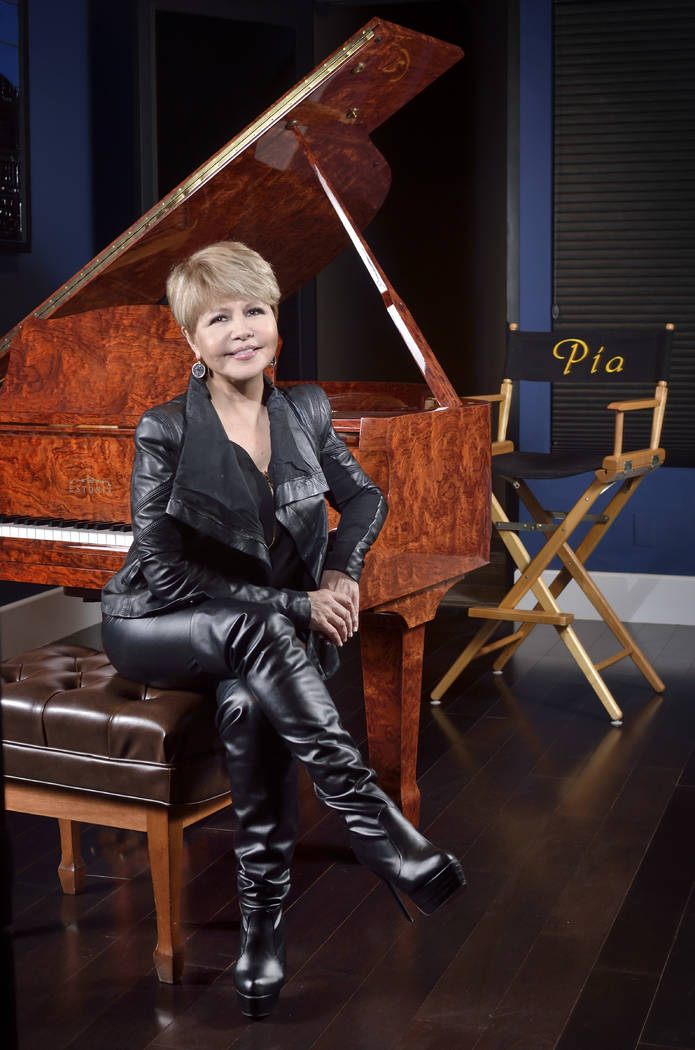 Pia Zadora works in her music studio at her Summerlin home. She performs at the iconic Piero's Italian Cuisine in downtown Las Vegas. (Bill Hughes Real Estate Millions)