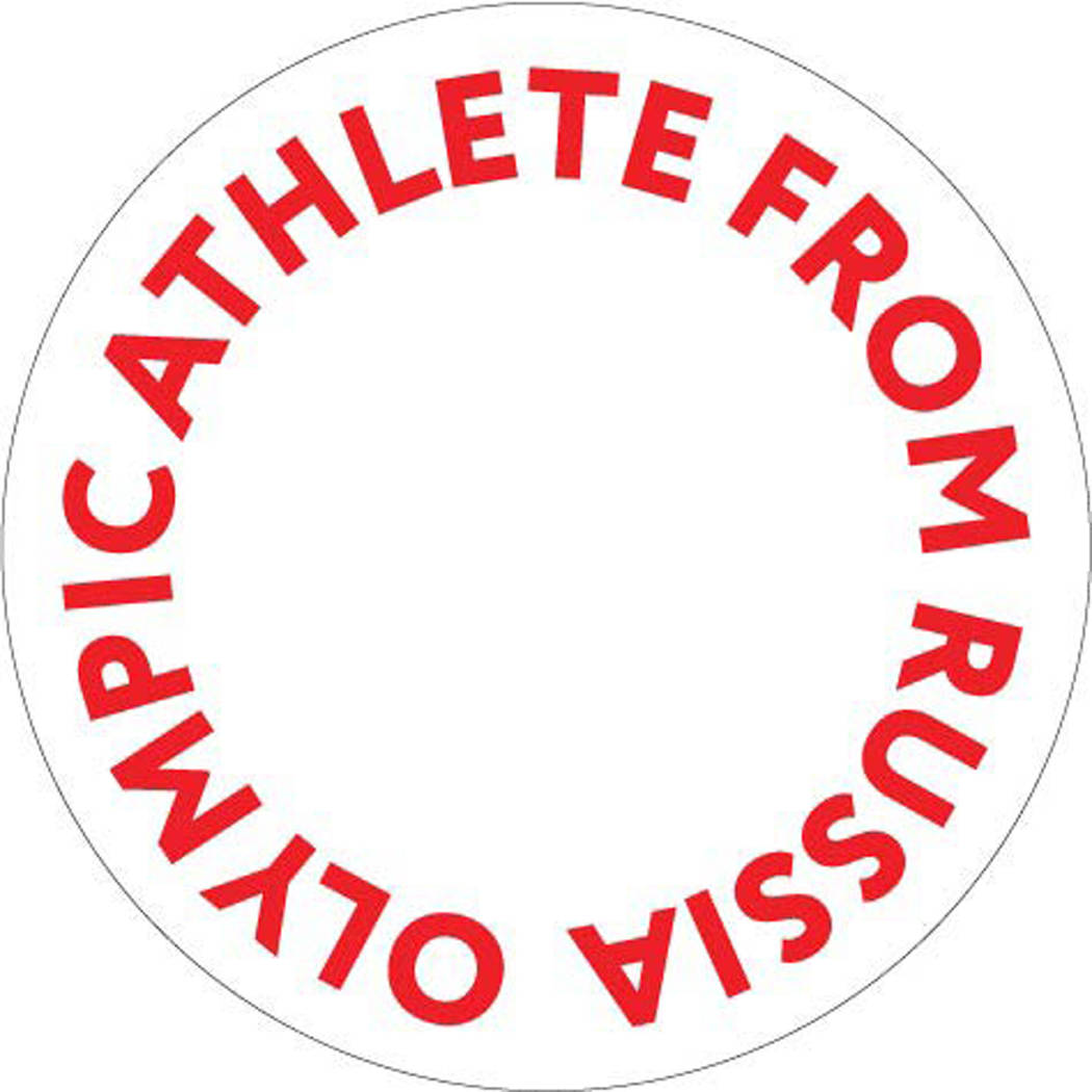 This image made available by the International Olympic Committee on Wednesday Dec. 20, 2017, shows the proposed logo to be worn by athletes granted an exemption from Russia's doping ban. More than ...
