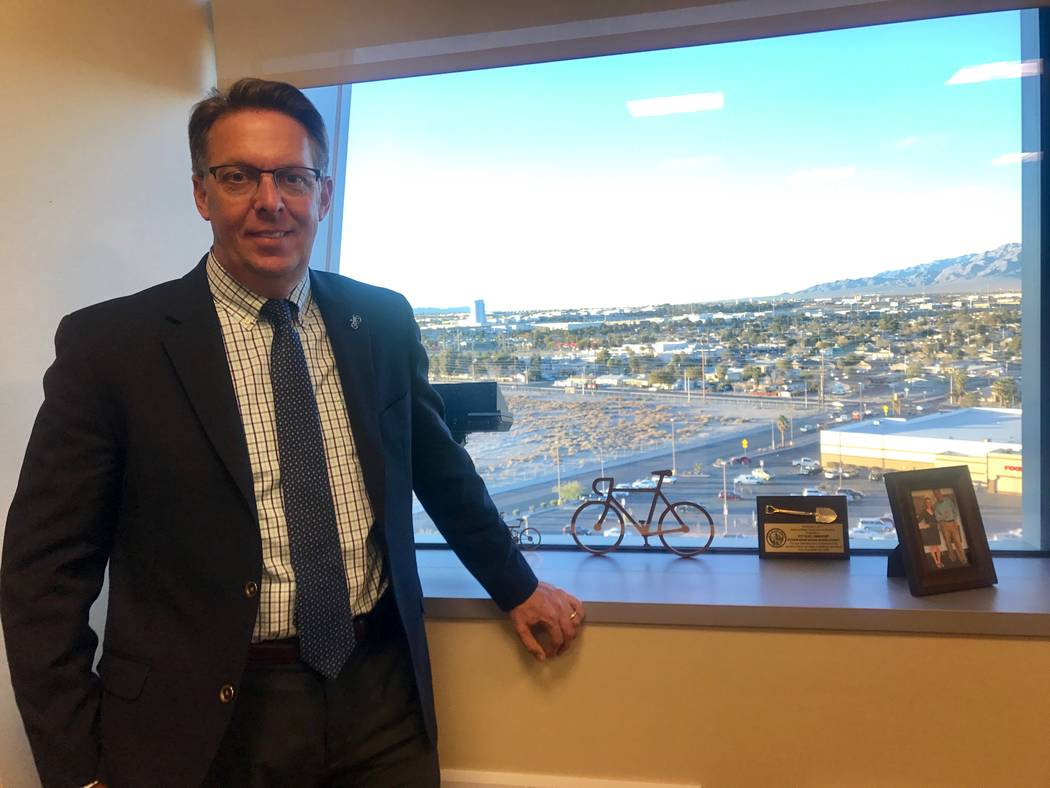 Councilman Scott Black poses for a portrait in his office on Dec. 7, 2017 at city hall in North Las Vegas, 2250 Las Vegas Boulevard North. (Kailyn Brown/View) @KailynHype
