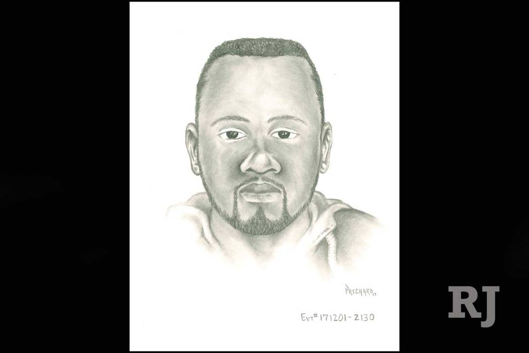 Police have released a sketch of a suspect in the killing of Kolton Sawyer in the central Las Vegas valley earlier this month. (Las Vegas Metropolitan Police Department)