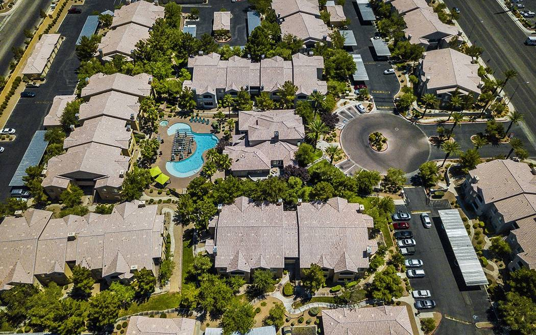 The Blackstone Group in December bought the 324-unit Broadstone Flamingo West apartment complex, seen above,  and the 350-unit Broadstone Talavera complex, both in Las Vegas. (Jones Lang LaSalle)