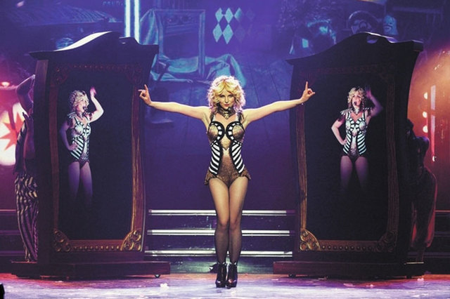"""Britney Spears performs during her """"Piece of ME""""' tour at Planet Hollywood Resort. Wednesday, Nov.5, 2014, has been proclaimed """"Britney Day,"""" with Spears getting a ceremonial key to the city a ..."""