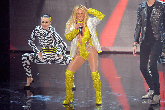 Britney Spears performs during the 2016 MTV Music Video Awards at Madison Square Garden on Sunday, Aug. 28, 2016, in New York City. (D Dipasupil/WireImage)