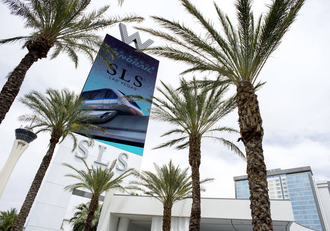 SLS Las Vegas, located near the intersection of West Sahara Avenue and South Las Vegas Boulevard, is pictured on Wednesday, May 31, 2017 in Las Vegas.  Alex Meruelo recently purchased SLS from rea ...