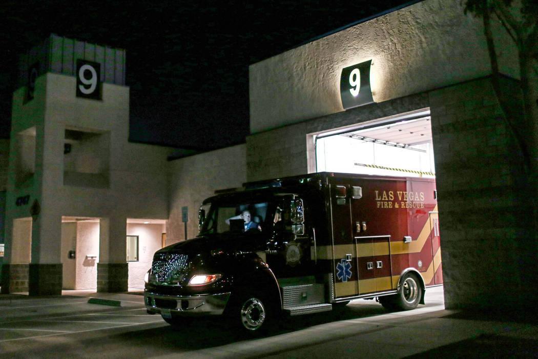 The Las Vegas Fire and Rescue Station 9 in Las Vegas, Thursday, Sept. 21, 2017. Joel Angel Juarez Las Vegas Review-Journal @jajuarezphoto