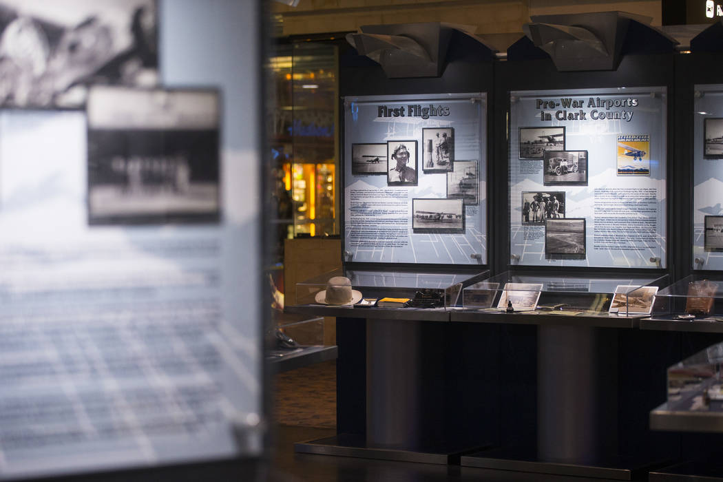 Displays at the Howard W. Cannon Aviation Museum in McCarran International Airport in Las Vegas on Tuesday, Dec. 26, 2017. Chase Stevens Las Vegas Review-Journal @csstevensphoto